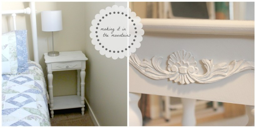 Bedside Table Makeover @ making it in the mountains