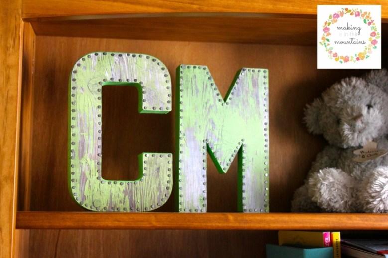 DIY Monogram Letters