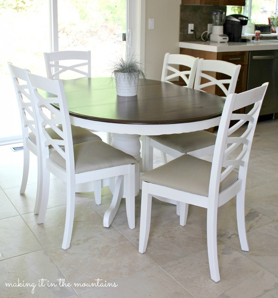 Diy year in review a look back at making it in the for Painted kitchen chairs