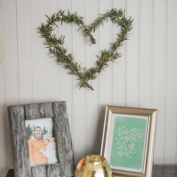 rosemary valentines wreath