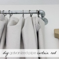 DIY Pipe Curtain Rod