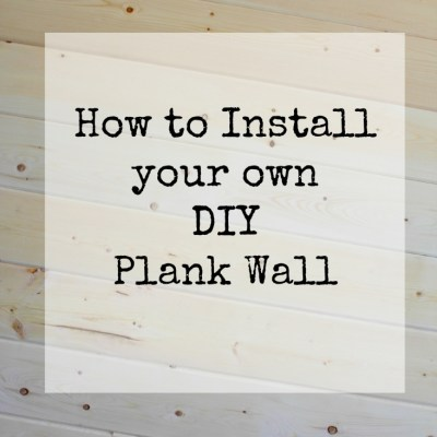 How to Install your own DIY Plank Wall
