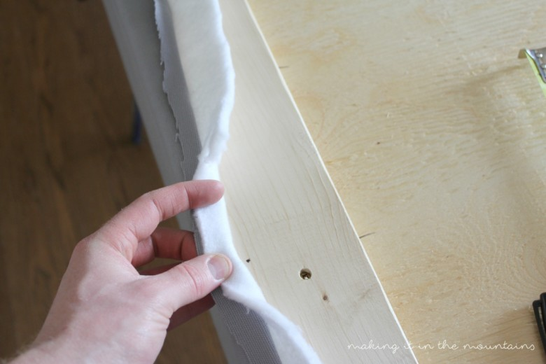 DIY Upholstered Wingback Headboard | making it in the mountains