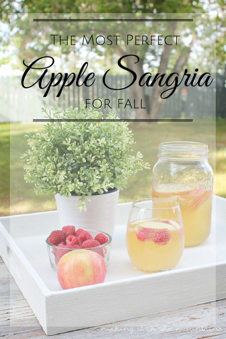 If you love Sangria, this one's for you!  Made with sweet Moscato wine mixed with hints of vanilla and apple, this really is The Most Perfect Apple Sangria!