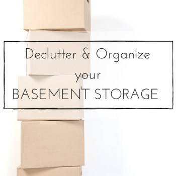 Because sometimes you can't just get rid of everything, I'm sharing our process for decluttering and organizing basement storage using the KonMari Method, so you'll have the tools to take on your own storage.