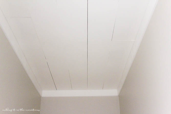 The Easiest (and Cheapest) Way to Transform a Popcorn Ceiling: A Farmhouse Style Planked Ceiling ...