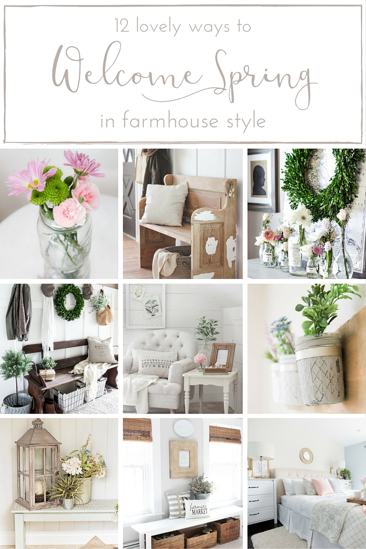 Country Mouse City Spouse Monday Mish Mash Link Party #13 Feature- Farmhouse Spring Decor- Making It in the Mountains