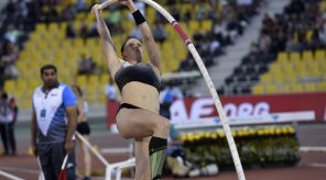 Sandi Morris became the second woman in history to jump 5.00m. Photo Credit: @iaaforg