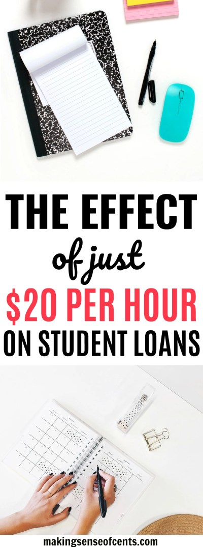 The Effect of Just $20/hr on a Student Loan - Making Sense Of Cents