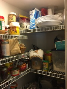 messy top right side of pantry