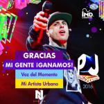Nicky Jam gana dos estatuillas en los Premios Juventud 2016