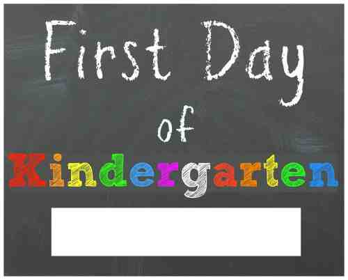 Dashing Kindergarten Sign Amazon Day Day Kindergarten Sign Walmart Day Kindergarten Chalkboard Printable Sign Free Back To School Printable Chalkboard Signs Day
