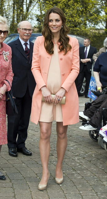 Kate Middleton in Peach