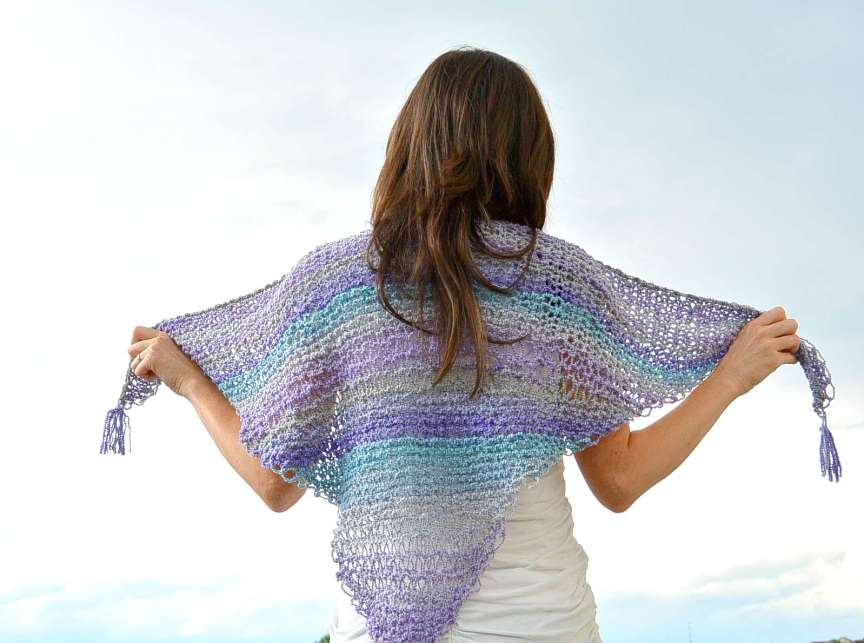 Knitting Patterns Tutorial : Knit Shawlette Pattern with Video Tutorial