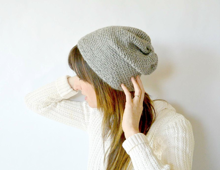 Crochet Slouchy Hat Pattern Easy : Crochet Hats