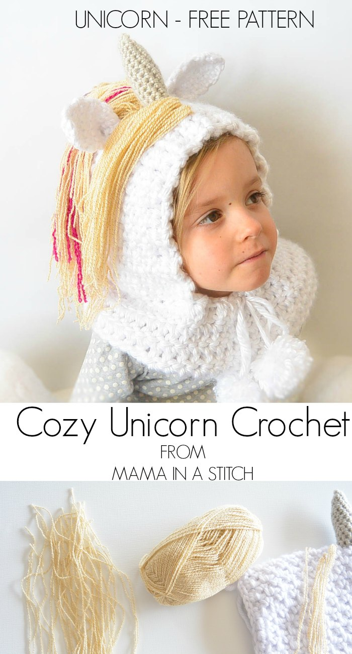 ... crocheted unicorn hood i hope your little unicorn enjoys this as much