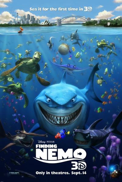 Buscando a Nemo y PartySaurus Rex en 3D
