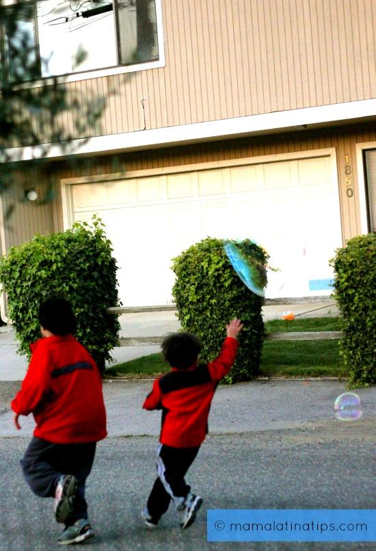 Kids Chasing Balloons