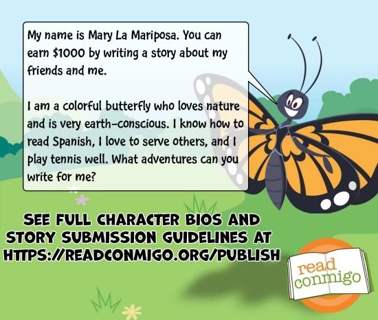 Read Conmigo Contest Mary the butterfly