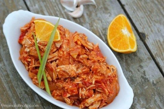 Chicken and pork tinga with chipotle and orange