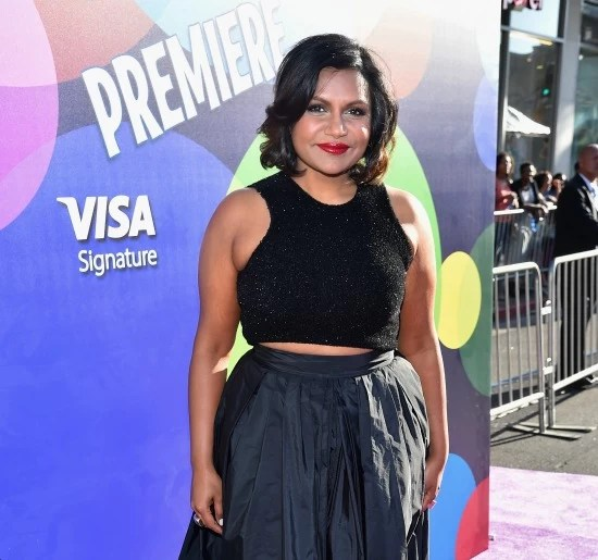 Mindy Kaling at Inside Out Premier - mamalatinatips.com