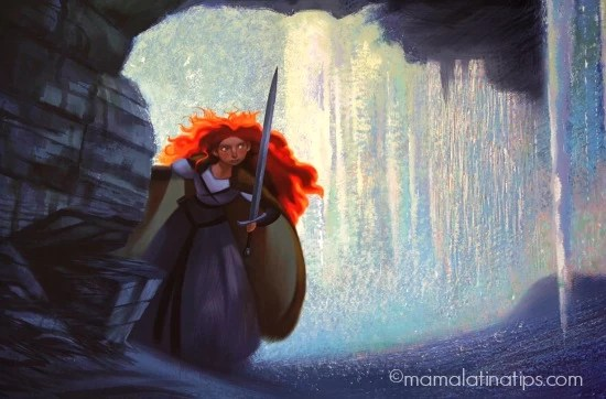 Merida's painting at Pixar