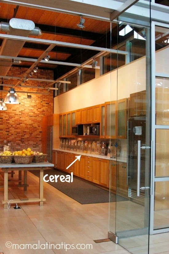 Cereal bar at Pixar by mamalatinatips