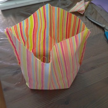 Panier r versible tuto couture blog pro allaitement maternel et maternage - Tuto panier tissu rigide ...