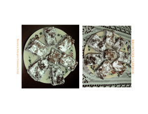 Receta Brownies Caseros