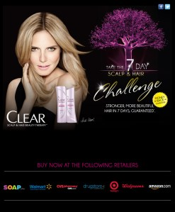 Muestra Gratis shampoo y acondicionador Clear Scalp and Hair Beauty terapia de 7 días