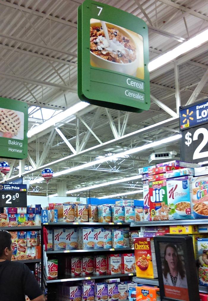 cereales General Mills en el Walmart
