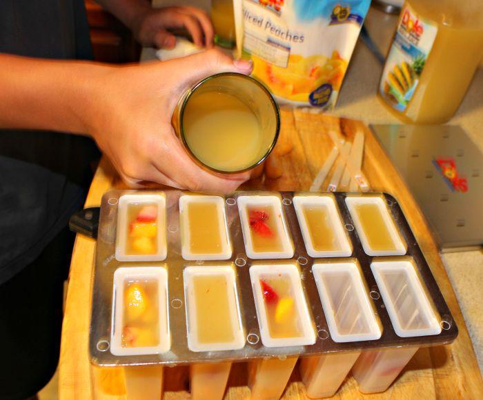 Como hacer paletas de frutas