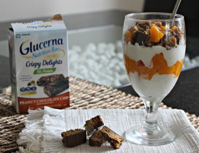 Parfait de Durazno, Chips de Chocolate y cereales