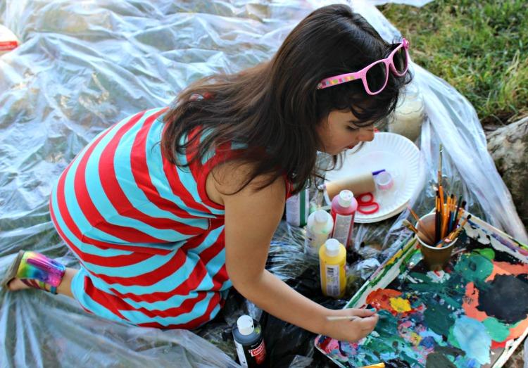 pintar, niños, actividad