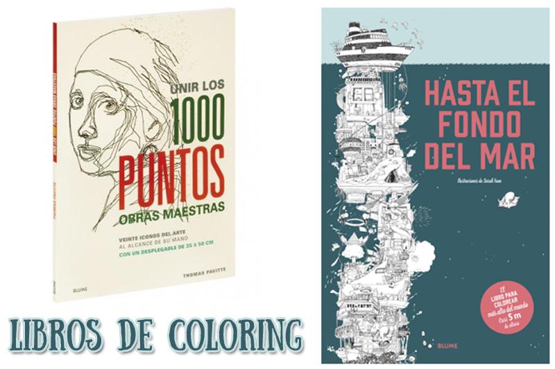 Libros de coloring para pequeños…y mayores