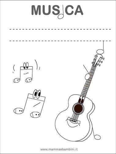 Copertina quaderno di musica in scuola