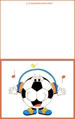 Biglietti auguri compleanno: pallone con cuffie