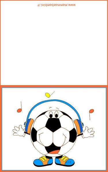 Biglietti auguri compleanno: pallone con cuffie in biglietti da stampare