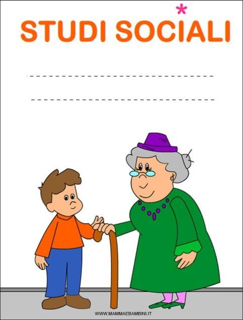 """Nuova copertina per quaderni """"Studi Sociali"""" da stampare in scuola"""