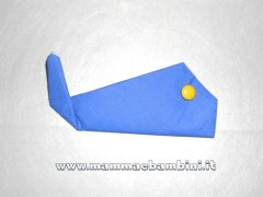 Come piegare i tovaglioli di carta: la balena