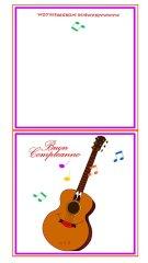 Biglietto auguri con la chitarra