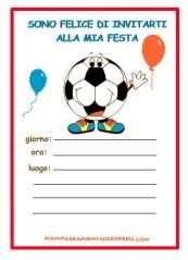 Biglietti invito festa di compleanno: pallone