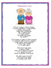 Poesia sui nonni con attestato di ringraziamento