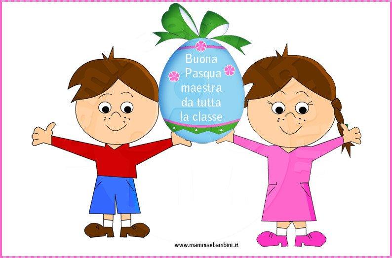 Buona Pasqua Maestra Disegno Da Stampare Mamma E Bambini
