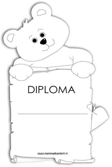 Diploma per i bambini da stampare in scuola diplomi
