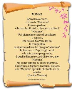 Poesia sulla mamma con cornice: Mamma