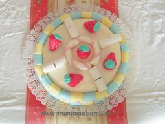 Torta decorata con i marshmallows