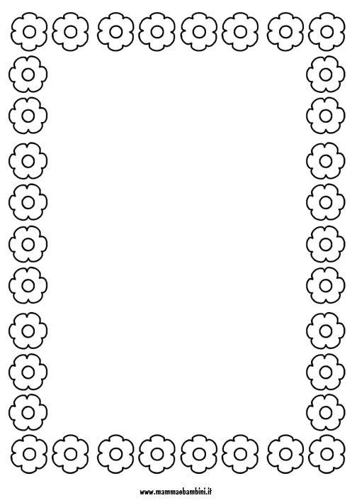 Cornicetta con fiori da stampare e colorare mamma e bambini for Immagini della pimpa da colorare