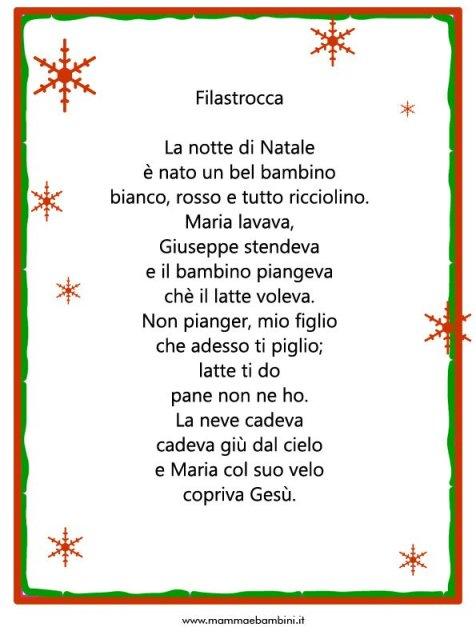 Filastrocca: La notte di Natale in filastrocche natale