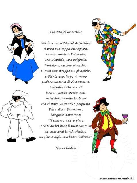Poesia: Il vestito di Arlecchino in poesie preghiere e testi festa carnevale